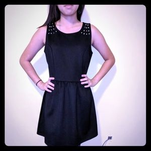 Forever 21 little black dress goth steampunk L